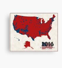 2016 Election Results Canvas Print