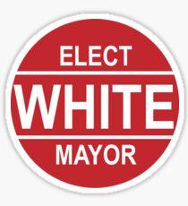 VOTE WHITE Sticker