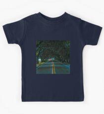 Highway Oak Tree Canopy Tunnel  Kids Tee