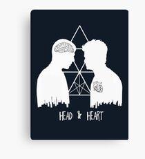 Kirk/Spock - Head/Heart  //on dark colours// Canvas Print