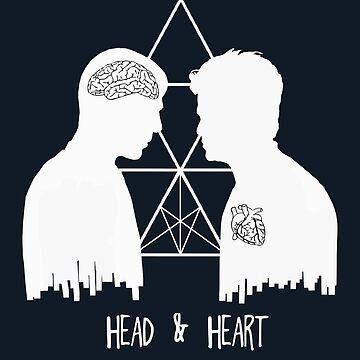 Kirk/Spock - Head/Heart  //on dark colours// by SallySparrowFTW