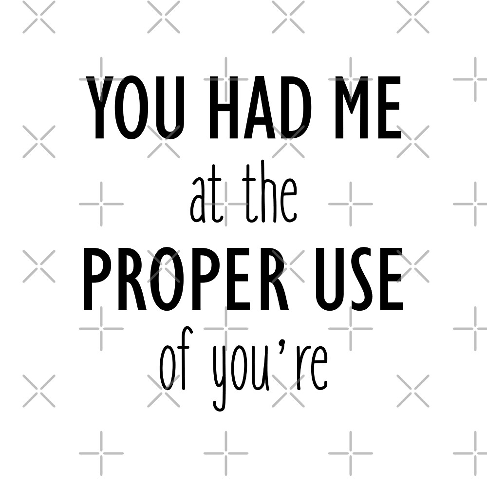 You Had Me At The Proper Use of You're by DJBALOGH