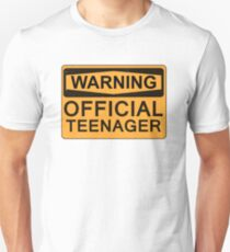 13th Birthday Gifts - Warning Official Teenager Unisex T-Shirt