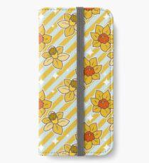 Daffodils Striped Pattern iPhone Wallet/Case/Skin