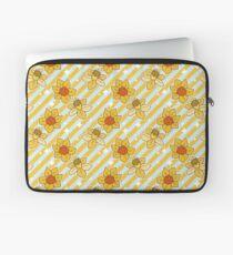 Daffodils Striped Pattern Laptop Sleeve