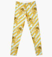 Daffodils Striped Pattern Leggings