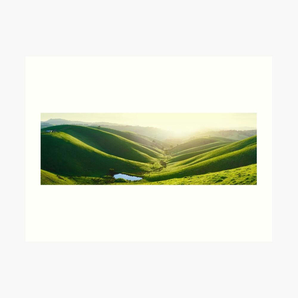 Green Hills, Gippsland, Victoria, Australia Art Print