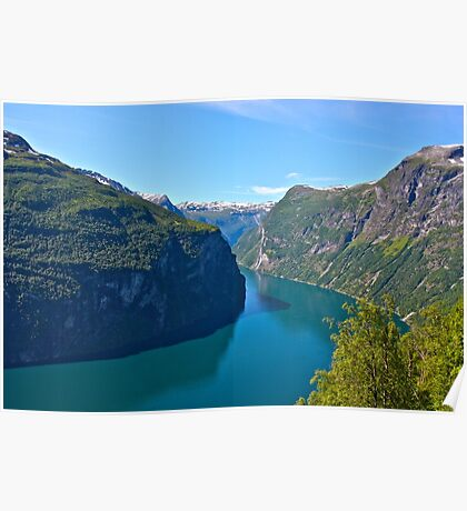 Views: 10661***. Earth Wonders -  the Gerianger Fjord . Møre og Romsdal . Norway . by Doctor Andrzej Goszcz.  Poster