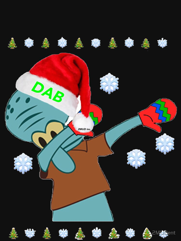 """Dabbin' Squidward"" Christmas Sweatshirts!! by 2MUDent"