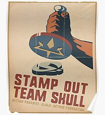 Stamp Out Team Skull Poster