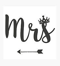 Mrs Photographic Print