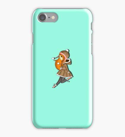 Winter Girl Skipping iPhone Case/Skin