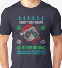 Merry Christmas Ya Filthy Animals Unisex T-Shirt