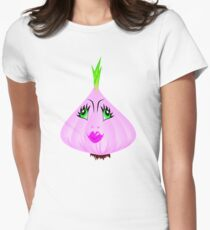 Girly Garlic Womens Fitted T-Shirt