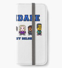 8-bit Greendale is Where They Belong (College Text) iPhone Wallet/Case/Skin