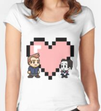Community - Jeff and Annie 8-bit (style B) Women's Fitted Scoop T-Shirt
