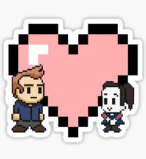 Community - Jeff and Annie 8-bit (style B) Sticker