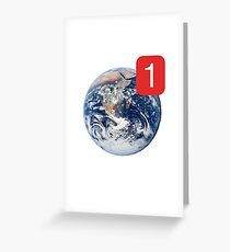 Earth Note Greeting Card