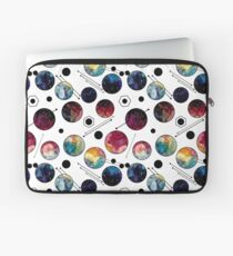 Watercolor Colorful Galaxy in Circles Laptop Sleeve