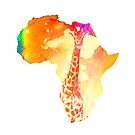 Bright Giraffe in Africa by Kevin Halfhill