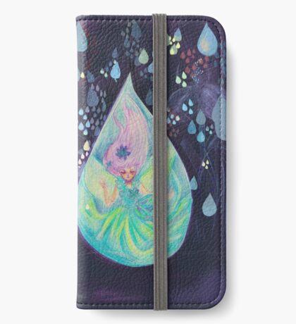 Raindrop fairy  Étui Portefeuille iPhone