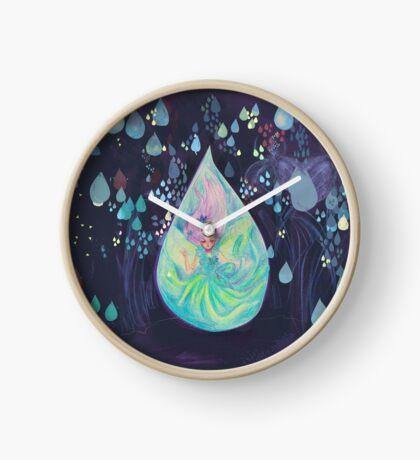 Raindrop fairy  Clock