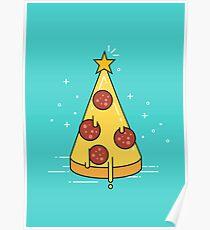 Christmas tree pizza. Poster