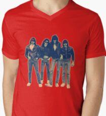 RAMONES ZOMBIES Men's V-Neck T-Shirt