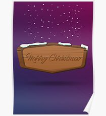 Merry Christmas sign. Poster