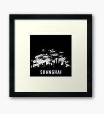 Shanghai China Skyline Cityscape Night Framed Print