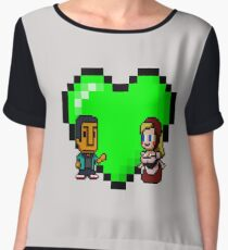 Love in 8-bit: Abed and Hilda (style A) Chiffon Top