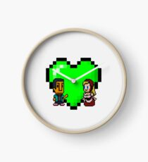Love in 8-bit: Abed and Hilda (style A) Clock