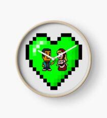 Love in 8-bit: Abed and Hilda (style B) Clock