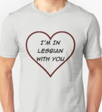 Scott Pilgrim VS The World - I'm in Lesbian with you T-Shirt