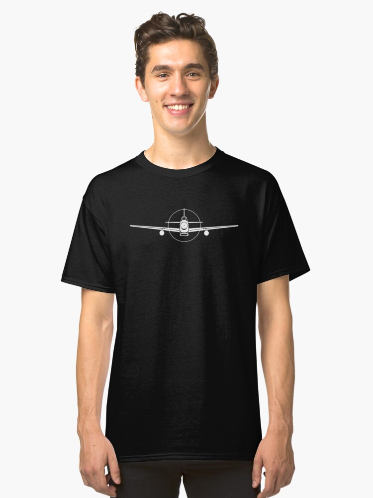 P-51 Mustang Fighter T-Shirt Classic T-Shirt Front