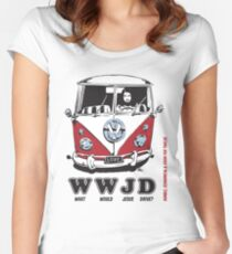 WWJD ? Women's Fitted Scoop T-Shirt