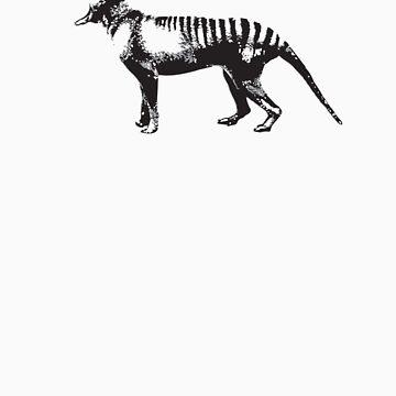 Tasmanian Tiger - Thylacine by carvnmarvn