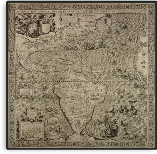 1562, The Americas, or A New and Precise Description of the Fourth Part of the World by Framerkat