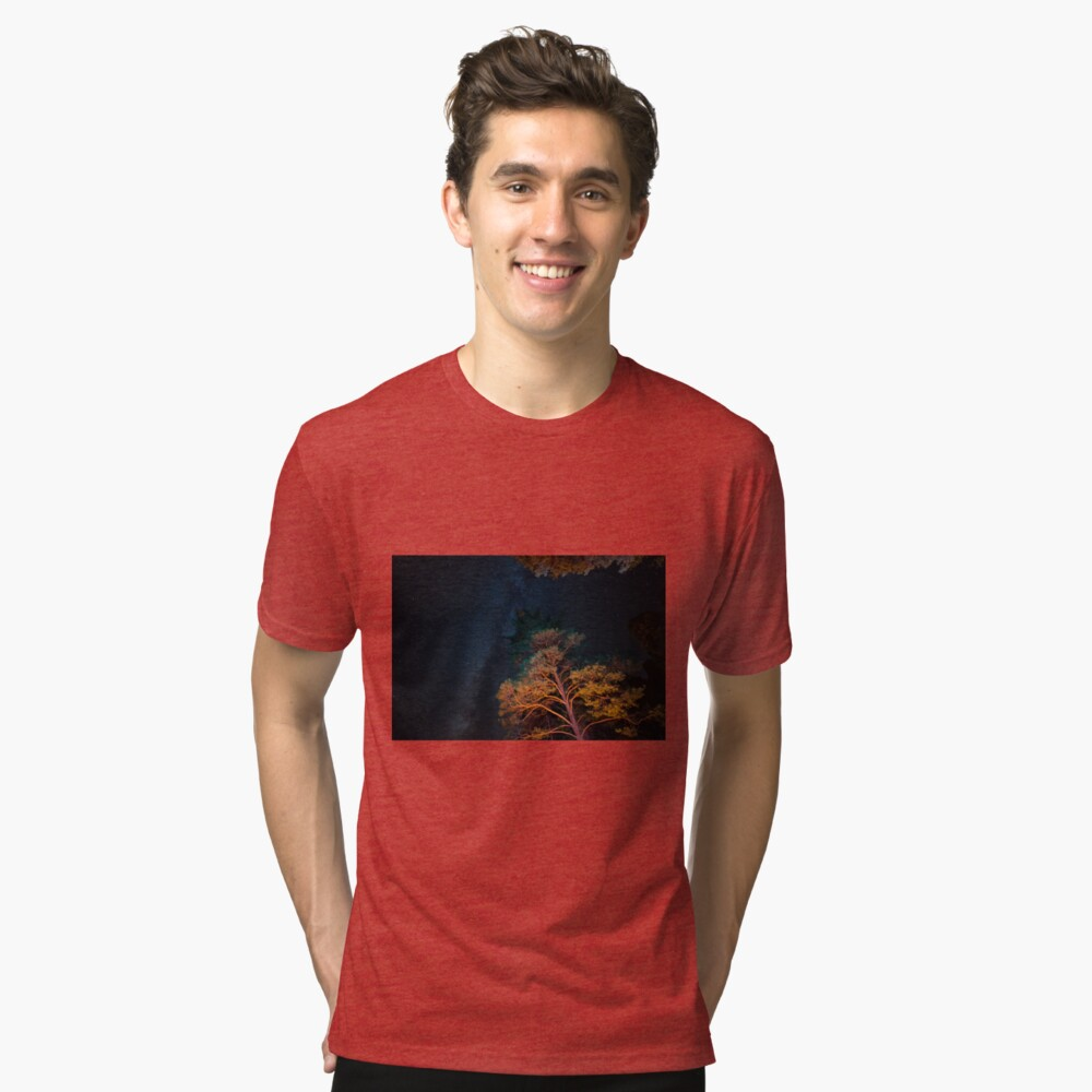 Starry Night Northern Canada Tri-blend T-Shirt Front