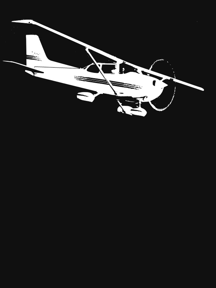 Cessna 172 Skyhawk Airplane T-Shirt by cranha