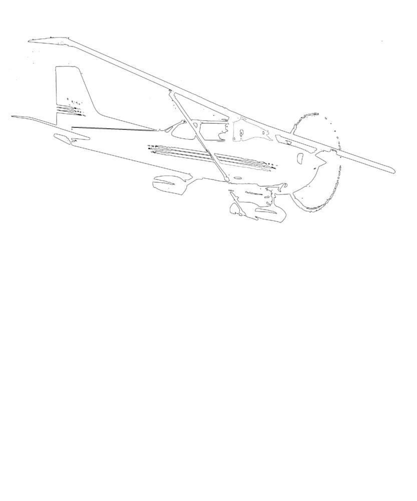 Cessna 172 Skyhawk Airplane T-Shirt by cranha