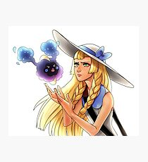 Pokemon - Lillie and Nebby Photographic Print