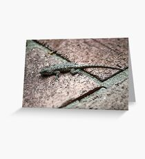 Scaly Shades of Grey Greeting Card