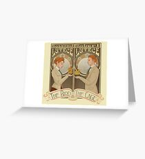 Lutece Twins Nouveau Greeting Card
