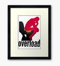 Shit Overload Framed Print