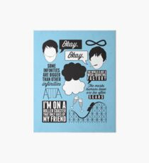 The Fault In Our Stars Collage Art Board