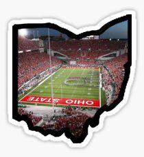 Ohio State Outline Script O-H-I-O Ohio Stadium Sticker