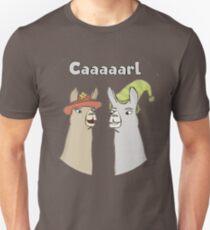 Lamas mit Hüten - Caaaarl Slim Fit T-Shirt