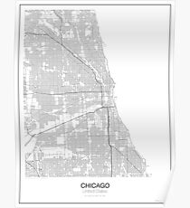 Chicago Minimalist Map Poster