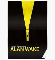 Alan Wake Minimal Poster Poster